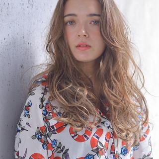 ピュア ゆるふわ ガーリー ロング ヘアスタイルや髪型の写真・画像