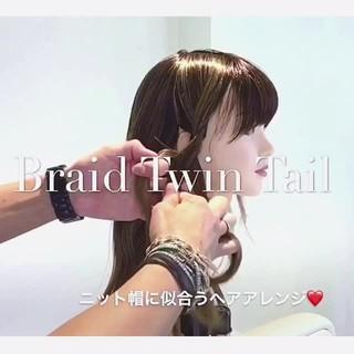 ガーリー ヘアアレンジ ロング 簡単ヘアアレンジ ヘアスタイルや髪型の写真・画像