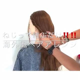 上品 ヘアアレンジ ロング 簡単ヘアアレンジ ヘアスタイルや髪型の写真・画像