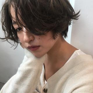 ショート ショートボブ デート パーマ ヘアスタイルや髪型の写真・画像