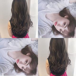 透明感 ロング ナチュラル オルチャン ヘアスタイルや髪型の写真・画像