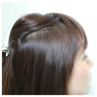 縮毛矯正 前髪あり ロング ナチュラル ヘアスタイルや髪型の写真・画像 ヘアスタイルや髪型の写真・画像