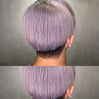 ストリート ホワイト ハイライト グラデーションカラー ヘアスタイルや髪型の写真・画像