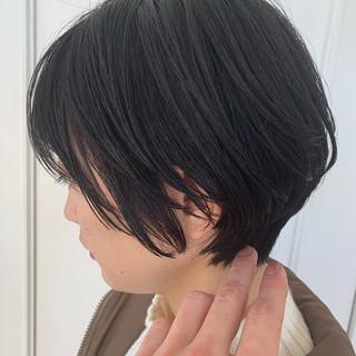 ショート 似合わせ フェミニン 色気 ヘアスタイルや髪型の写真・画像
