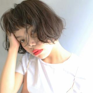 外国人風 ボブ ストリート アッシュ ヘアスタイルや髪型の写真・画像