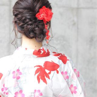 花火大会 お祭り ロング 涼しげ ヘアスタイルや髪型の写真・画像