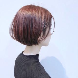 ナチュラル オーガニックカラー 秋 透明感 ヘアスタイルや髪型の写真・画像