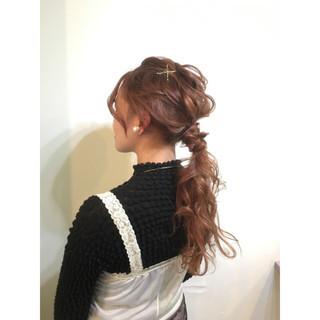 ミディアム ショート 大人かわいい ポニーテール ヘアスタイルや髪型の写真・画像
