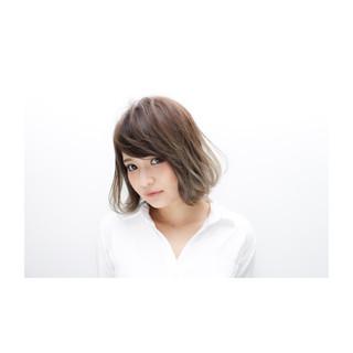 透明感 色気 ボブ フェミニン ヘアスタイルや髪型の写真・画像