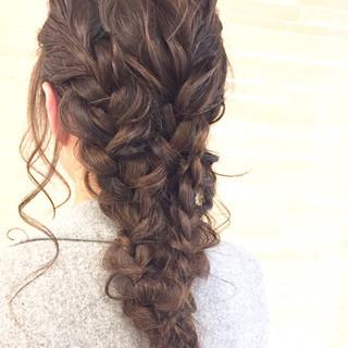 フェミニン ロング 大人女子 ヘアアレンジ ヘアスタイルや髪型の写真・画像