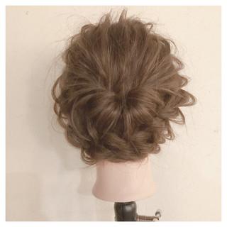 ミディアム 編み込み 簡単ヘアアレンジ ショート ヘアスタイルや髪型の写真・画像