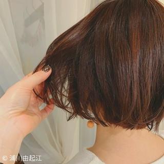 デート 秋冬スタイル モテ髪 ミニボブ ヘアスタイルや髪型の写真・画像