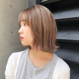 デート 簡単ヘアアレンジ レイヤー モテボブ ヘアスタイルや髪型の写真・画像