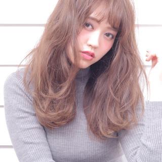ミディアム パーマ ナチュラル 外国人風 ヘアスタイルや髪型の写真・画像