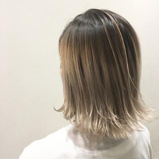 グラデーションカラー 外国人風 ハイライト ウェットヘア ヘアスタイルや髪型の写真・画像