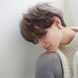 ショート ストリート 外国人風 ブリーチ ヘアスタイルや髪型の写真・画像