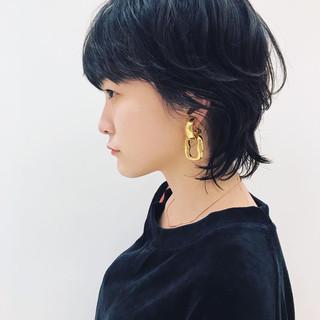 モード ヘアアレンジ 透明感 ショート ヘアスタイルや髪型の写真・画像