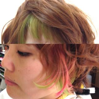ブリーチ お洒落 派手髪 ストリート ヘアスタイルや髪型の写真・画像