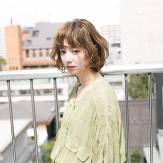 外国人風 ボブ 外ハネ ショート ヘアスタイルや髪型の写真・画像