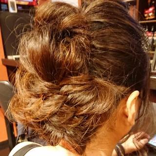 大人女子 パーティー セミロング エレガント ヘアスタイルや髪型の写真・画像
