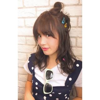 簡単ヘアアレンジ ヘアアレンジ 夏 ゆるふわ ヘアスタイルや髪型の写真・画像 ヘアスタイルや髪型の写真・画像