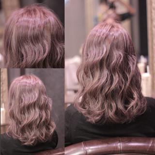 ウェットヘア ハイライト ウェーブ 外国人風 ヘアスタイルや髪型の写真・画像