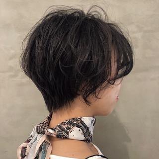 ベリーショート ミニボブ ショートボブ ナチュラル ヘアスタイルや髪型の写真・画像