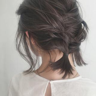ヘアアレンジ ガーリー ゆるふわ アンニュイ ヘアスタイルや髪型の写真・画像