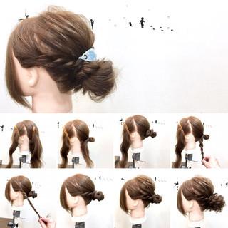 ゆるふわ ヘアアレンジ リラックス セミロング ヘアスタイルや髪型の写真・画像 ヘアスタイルや髪型の写真・画像