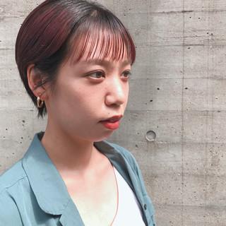 ダブルカラー ピンクベージュ ピンクブラウン ストリート ヘアスタイルや髪型の写真・画像