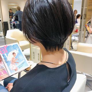 ナチュラル可愛い ナチュラル ハンサムショート 簡単ヘアアレンジ ヘアスタイルや髪型の写真・画像