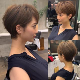 ショート フェミニン 辺見えみり 吉瀬美智子 ヘアスタイルや髪型の写真・画像