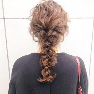 結婚式 アンニュイほつれヘア ロング 簡単ヘアアレンジ ヘアスタイルや髪型の写真・画像 ヘアスタイルや髪型の写真・画像