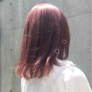 ナチュラル ラベンダーピンク ピンクアッシュ ガーリー ヘアスタイルや髪型の写真・画像
