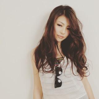 大人かわいい ウェーブ 外国人風 ロング ヘアスタイルや髪型の写真・画像