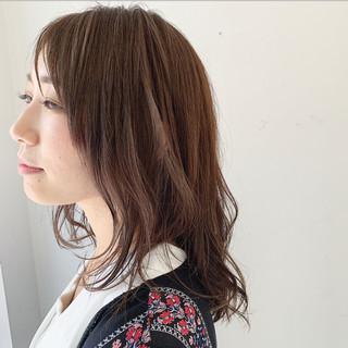 モテ髮シルエット ナチュラル 透明感 ゆるふわセット ヘアスタイルや髪型の写真・画像
