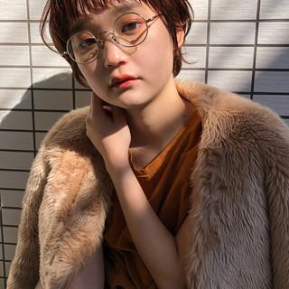 小顔ヘア ナチュラル 耳かけ ニュアンスパーマ ヘアスタイルや髪型の写真・画像