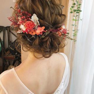 ガーリー 結婚式ヘアアレンジ ヘアアレンジ 大人女子 ヘアスタイルや髪型の写真・画像 ヘアスタイルや髪型の写真・画像