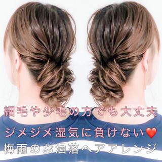 アウトドア フェミニン 簡単ヘアアレンジ ロング ヘアスタイルや髪型の写真・画像
