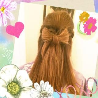コンサバ 三つ編み ハーフアップ ヘアアレンジ ヘアスタイルや髪型の写真・画像