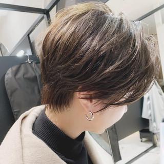 ショート ベリーショート マッシュショート ナチュラル ヘアスタイルや髪型の写真・画像