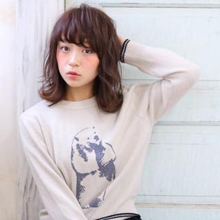 秋 ミディアム ピュア ナチュラル ヘアスタイルや髪型の写真・画像