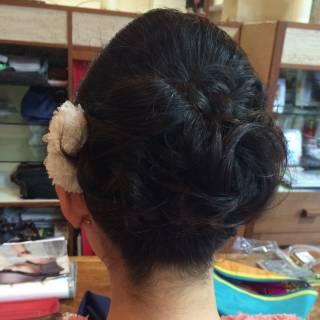 ヘアアレンジ コンサバ パーティ ヘアスタイルや髪型の写真・画像