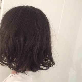 アッシュ ストリート ボブ 暗髪 ヘアスタイルや髪型の写真・画像