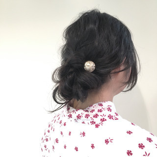 ラフ 夏 簡単ヘアアレンジ ロング ヘアスタイルや髪型の写真・画像