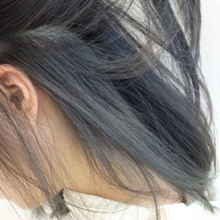 ボブ ストリート 暗髪 ミディアム ヘアスタイルや髪型の写真・画像