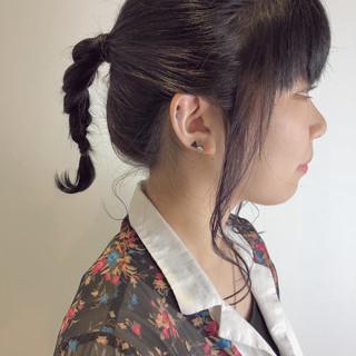 スポーツ 簡単ヘアアレンジ ミディアム デート ヘアスタイルや髪型の写真・画像