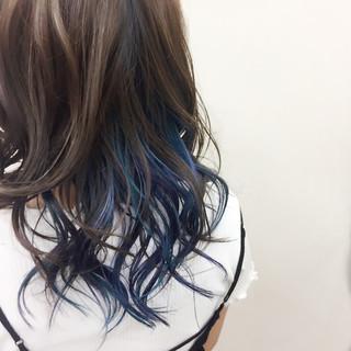 インナーカラー ヘアマニキュア カラフルカラー ロング ヘアスタイルや髪型の写真・画像 ヘアスタイルや髪型の写真・画像