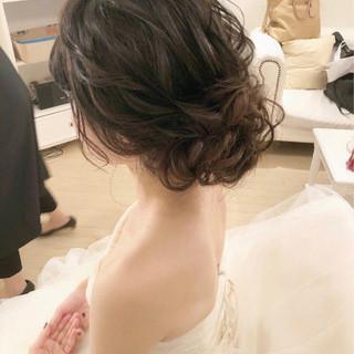 セミロング ヘアアレンジ ゆるふわ アンニュイ ヘアスタイルや髪型の写真・画像