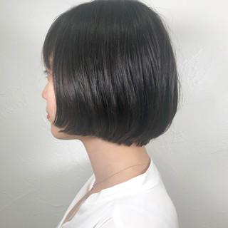 黒髪 ボブ デート フェミニン ヘアスタイルや髪型の写真・画像